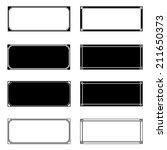 rectangle frames set for your... | Shutterstock .eps vector #211650373