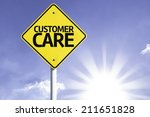 customer care road sign with... | Shutterstock . vector #211651828