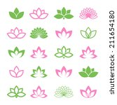lotus vector set for wellness ... | Shutterstock .eps vector #211654180