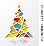 christmas card template with... | Shutterstock .eps vector #211656403