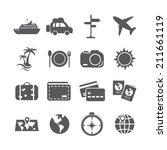 Travel And Tourism Icon Set ...