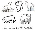 White Polar Bears Set In...