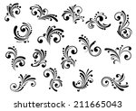 floral motifs and design... | Shutterstock .eps vector #211665043