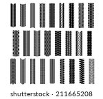 Tire Shapes Set Isolated On...