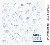 back to school design over... | Shutterstock .eps vector #211668430