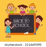 back to school design over... | Shutterstock .eps vector #211669390