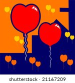 balloons in a love design... | Shutterstock .eps vector #21167209