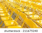 Close Up Yellow Chair