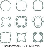 set of abstract vintage frames | Shutterstock . vector #211684246