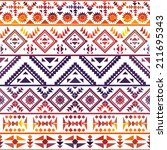 seamless colorful navajo pattern | Shutterstock .eps vector #211695343