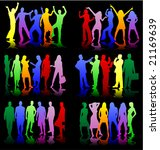 young people   color profile | Shutterstock .eps vector #21169639
