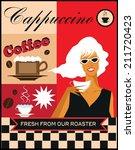 coffee retro advertising ... | Shutterstock .eps vector #211720423