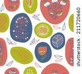 seamless pattern with the... | Shutterstock .eps vector #211720660