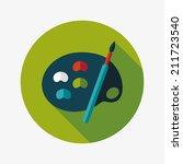 art palette with paint brush...   Shutterstock .eps vector #211723540
