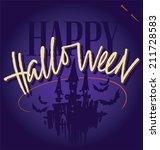 halloween hand lettering   ... | Shutterstock .eps vector #211728583