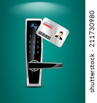 access control and management... | Shutterstock .eps vector #211730980