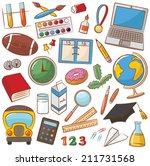 collection of school  ... | Shutterstock .eps vector #211731568