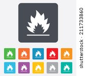 fire flame sign icon. heat... | Shutterstock . vector #211733860