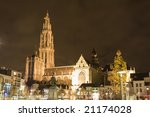 our lady cathedral in antwerp ... | Shutterstock . vector #21174028
