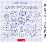 scrap set back to school on the ... | Shutterstock .eps vector #211742170