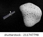 rosetta probe and comet 67p... | Shutterstock . vector #211747798
