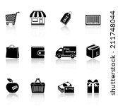 shopping icons | Shutterstock .eps vector #211748044