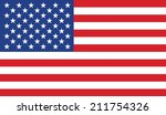 flag of the usa vector isolated ... | Shutterstock .eps vector #211754326