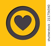 vector heart icon   button in...