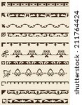 ornate art border set is on... | Shutterstock .eps vector #211764424