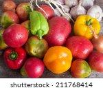 fresh vegetables from the... | Shutterstock . vector #211768414