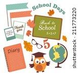 school set | Shutterstock .eps vector #211773220