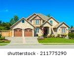 big custom made luxury house...   Shutterstock . vector #211775290