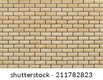 new and clean yellow brick wall  | Shutterstock . vector #211782823
