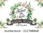 wedding graphic set with... | Shutterstock .eps vector #211788868