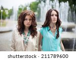 young woman on the street | Shutterstock . vector #211789600