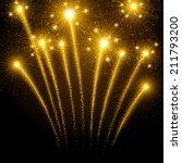 holiday fireworks | Shutterstock .eps vector #211793200