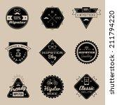 set of vintage styled design... | Shutterstock .eps vector #211794220