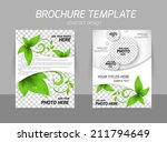 back and front flyer template... | Shutterstock .eps vector #211794649