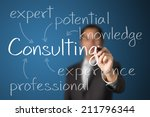 business man writing consulting ... | Shutterstock . vector #211796344