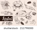 seafood | Shutterstock .eps vector #211798300