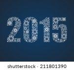 happy new year 2015. figures... | Shutterstock .eps vector #211801390