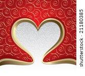 the valentine's day. vector   Shutterstock .eps vector #21180385