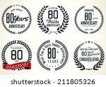 anniversary laurel wreath...   Shutterstock .eps vector #211805326