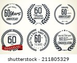 anniversary laurel wreath... | Shutterstock .eps vector #211805329