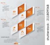 design clean number banners... | Shutterstock .eps vector #211809568