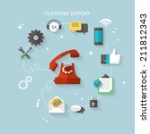 flat design modern vector... | Shutterstock .eps vector #211812343