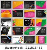 big collection advertising... | Shutterstock .eps vector #211818466