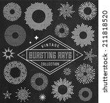 vector vintage bursting rays... | Shutterstock .eps vector #211818520