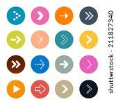 vector arrows set in circles...   Shutterstock .eps vector #211827340