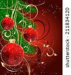 christmas triangle pattern ball ... | Shutterstock .eps vector #211834120